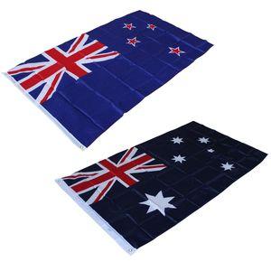 90 * 150 cm / 3'x 5 'Büyük Avustralya Avustralya Bayrağı Yeni Zelanda Bayrağı Polyester Festival Parade için Bayrak Afiş Bayrakları Ev Kapalı / Açık Dekorasyon