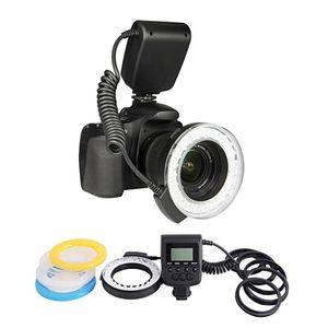 RF-550D Macro 48 piezas LED Flash Light para Canon Nikon para Olympus para Panasonic DSLR Camera