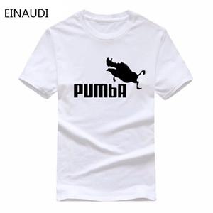 EINAUDI 2018 neues lustiges T-Stück nette T-Shirts homme Pumba-Mannfrauen 100% Baumwollkühlt-shirt reizendes nettes Sommerjersey-Kostümt-shirt