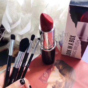 2018 pinceau de maquillage de haute qualité édition limitée 4 rouge à lèvres brosse seau modèle de voyage ensemble de pinceau de maquillage géant