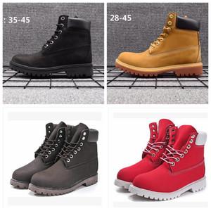 Botas de cuero genuino Hombres Mujeres Botas de nieve Botas casuales Martin Venta al por mayor Zapato de marca de moda