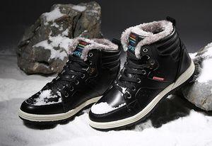 Новые мужские кожаные сапоги мода осень зима теплая хлопок бренд ботильоны зашнуровать Мужская обувь Обувь бесплатная доставка размер: EU39-48