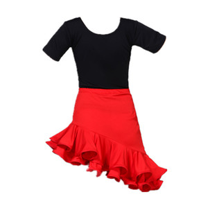 Vestido de dança latina para meninas competição salão de salsa vestidos crianças rumba samba spandex crianças tango saias traje dança