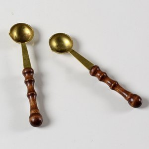 2 шт / много старинные деревянные ручки воск ложка штамп сургучом ложка анти горячий воск подарок ложка
