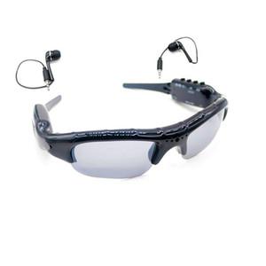 نظارة شمسية متعددة الوظائف كاميرا صغيرة مع مشغل موسيقى MP3 يمكن ارتداؤها نظارة شمسية MINI DV DVR مسجل فيديو رقمي SunGlasses