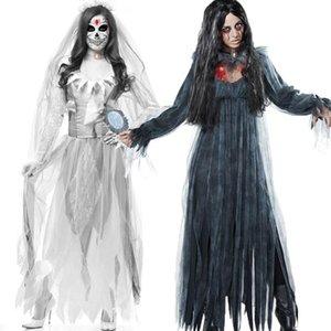 Halloween New Fantasma Fantasma Noiva Zombie Costume Popular Jogo de Roupas Moda Bar Masquerade Feminino Traje Zumbi
