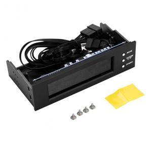 STW 5,25-Zoll-Laufwerk LCD-Frontpanel Lüfterdrehzahlregler mit 4 Lüfterdrehzahlreglern CPU-Temperatursensor 5023 Computer