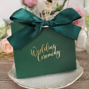 5 색 사탕 상자 Bowknot 종이 선물 상자 선물 가방 웨딩 파티 초콜릿 상자