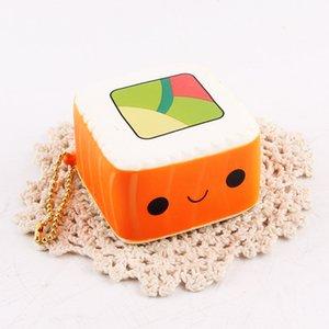 Novedad 1pcs Cute Yummy Sushi Squishy Slow Rising Phone Strap 6cm Kawaii Cartoon Face Pendant Stretchy Bread Cake Kids Fun Toy Gift