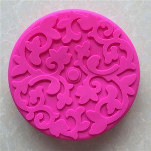 DIY 쿡 금형 단일 윌 라운드 전통 장식 패턴 실리카 젤 케이크 모델 구운 빵은 도구 고온을 육성 것입니다