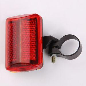Sıcak Satış Bisiklet Bisiklet 5 LED Arka Kuyruk Işık Bisiklet Kırmızı Işık MTB Bisiklet Güvenlik Yanıp Sönen Uyarı Işıkları (Pil Olmadan)
