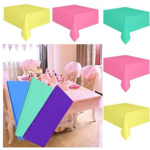 Cloth PLastic Party Dinner 137cm Drop X Color Disposable Desk Tablecloth 183cm Clean Wipe Table Covers Rectable Large Solid Ship Gfbab