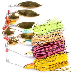 4 pc / lot Hot Buzzbait spinner spoons cebo bass señuelo de pesca 18.4g 3D Eyes Metal Jigs Lead Fish lur spinners cuchara cebos de alta calidad