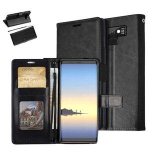 Carteira flip phone case tpu capa de couro multi slots de slot para telefone titular para samsung galaxy note 9 s8 s9 mais a8 / 2018 além de