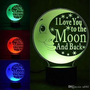 Nueva lámpara de noche 3D I Love You To The Moon y Back Energy Conservation Lámpara de mesa doméstica LED 31rm ii