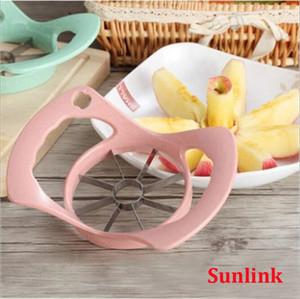 outil de coupe multi de gadget de cuisine en acier inoxydable commode découpeuse de découpage en tranches de fruit de pomme de machine multi couleurs