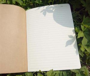 جلد البقر ورقة دفتر فارغة المفكرة كتاب خمر لينة الدفتر المذكرات اليومية كرافت غطاء مجلة الدفاتر C143