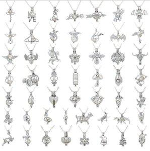 Nuovi risultati Cage moda dell'uccello di amore della perla della stella della gabbia pendente d'argento olio essenziale diffusore Locket Per Silver Pearl fibra sfera donne della ragazza
