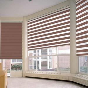 freies Verschiffen Europa Australien Natur Leinen transparent Zebra Jalousien Rollo Vorhang für Fenster oder Tür zur Größe gemacht