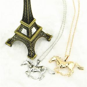 Collar colgante del caballo de la joyería de la manera para las señoras de las mujeres plateado oro regalo de la mamá de la muchacha envío libre
