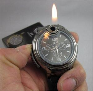 Orologio da uomo con accendino Orologio da polso da uomo al quarzo Ricaricabile butano Gas Relogio Masculino Dropship F607