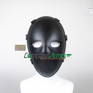 Masque facial Menace niveau NIJ IIIA, masque tactique kevlar pour arrêter 9mm, balle .44mag