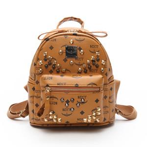 S64 Kids School Rivet Brand Backpack Style Hot Selling Luxury High Quality New Designer Punk Backpack Letter Bags Women Men School Bags