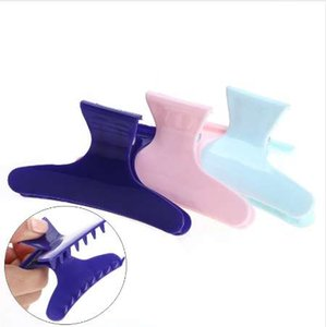 3pcs / pack Colorful Butterfly Holding Hair Clamps Clips Claw Section Strumenti per lo styling Strumento per parrucchieri