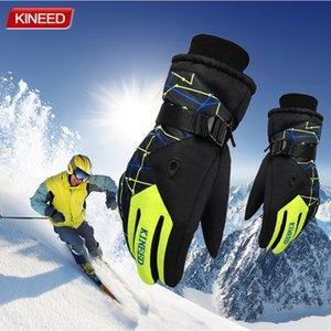 الشتاء الدافئ على الجليد تزلج قفازات الرجال النساء التزلج على الجليد الثلج ماء دراجة نارية قفازات يندبروف guanti موتو S1025