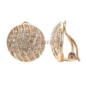 Tuyo thisfs clip en aretes para mujeres aretes de moda de cristales austriacos redondos