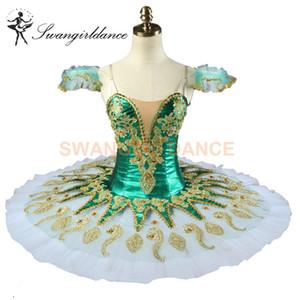 Grün Don Quijote Fee Frauen Professionelle Ballett Tutus Mädchen Raymonda Nutracker Pancake Tutu Kostüme Grün BT9134H