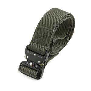 Cinturón de hombre ajustable Cinturón de nylon de gran alcance Multifunción Men Tactical Trainin accesorios para exteriores Alta calidad