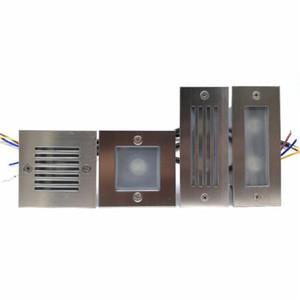 2adet 3W / 2x3W 6W Su geçirmez IP68 Kare LED Merdiven Işık Adım Işık Gömme gömülü lamba açık / kapalı Merdiven Basamak ışıkları