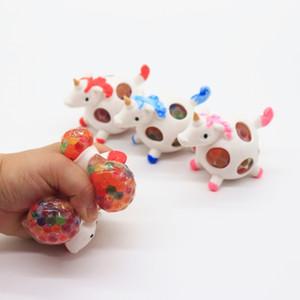 تنفيس الضغط لعبة الأزياء يونيكورن شبكة اسفنجي الكرة TPR تحلق الحصان الأطفال اللعب مصنع بيع المباشر 2 1xt BB