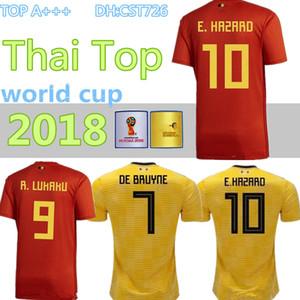 Bélgica 2018 Copa del Mundo Inicio Red Top Tailandia Calidad LUKAKU FELLAINI E.HAZARD KOMPANY DE BRUYNE Jersey de fútbol 18 19 Bélgica camiseta de fútbol