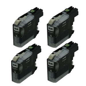 Cartouches d'encre noires 4PK LC123 compatibles avec les imprimantes Brother MFC-J650DW MFC-J4510DW MFC-J6520DW DCP-J132W DCP-J552DW Imprimante Ink Ink Ink