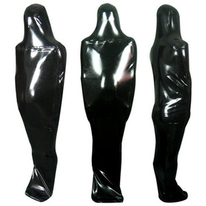 Latex Catsuit Zentai Sacco a pelo in lattice Latex Sacco in gomma per bodybag Fullbody Front Zipper Entry