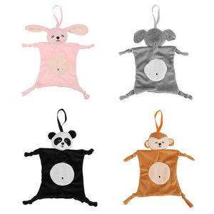 Baby beruhigende Handtuch weichen Cartoon Tier Form beruhigen Handtuch Sicherheit Decke neugeborenes Baby Spielzeug pädagogisches Plüsch Rassel Spielzeug