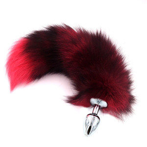 New Fox Tail Anal Plug Metal Butt Plug Prostate Stimulator Sex Adult Toy fox cosplay flirting sex games Drop shipping Y18100802