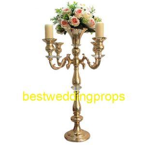 nuovo stile Candelabri d'oro Fiore Stand centrotavola Matrimonio Puntelli mentale centrotavola best003
