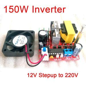 Freeshipping Inverter DC-DC batterie 12V à 220V 150W Boost Convertisseur Step Up Voltage Power Module