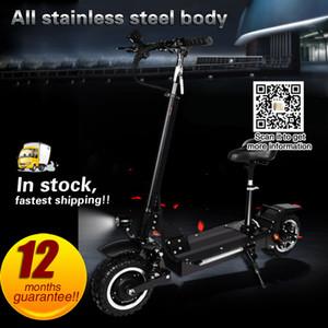 Kapalı Yol Elektrikli Scooter 48 V / 60 V Güçlü güçlü yeni Katlanabilir Elektrikli Bisiklet bisiklet 11 inç