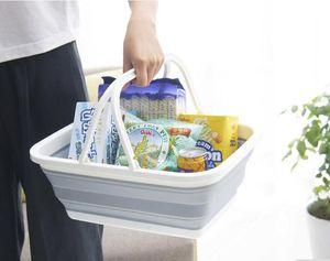 Складной многоцелевой корзина складная пластиковая корзина для хранения овощей хранения фруктов корзина бесплатная доставка Z003