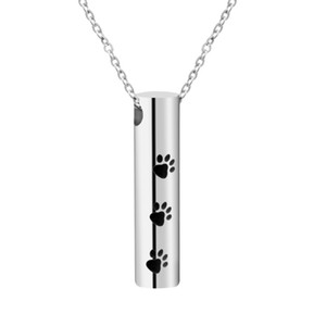 whole saleFUNIQUE Dog Prints Save Love Pills Cremation Urn Necklace Pendant Perfume Bottle Ash Holder Mini Keepsake Memorial Jewelry