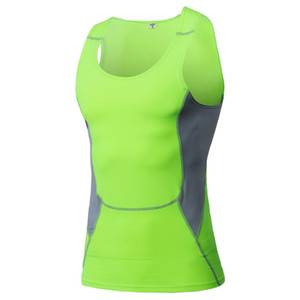 Mens Tight Breathable Sport Vest Fitness Athletic Tank Top Quick Dry 6 Colors 3XL