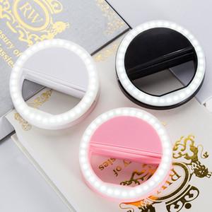 teléfono móvil belleza lente selfie anillo de luz de flash al por mayor Llena de luz de lámpara Clip portátil para la cámara de fotos para Smartphone del teléfono celular