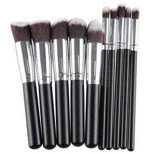 Pro High Quality 10 Pcs Makeup Brushes Foundation Blending Blush Eyeshadow Brush Women Beauty Make Up Maquiagem Cosmetic tools