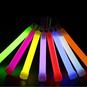 파티 막대 장식 QW7245에 대 한 6 인치 형광 글로우 스틱 라이트 스틱 프리미엄 밝은 적 열하는 네온 스틱