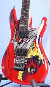 Özel Mağazalar 20. Yıldönümü JS20S Joe Satriani Sörfü W / Alien Elektro Gitar Floyd Rose Tremolo Kilitleme Somunu, Joesatriani Kakma