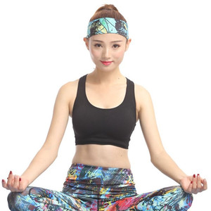 New running movement Fashion printing Yoga scarf sweatband Female hair band Fitness head Sports headbands T4H0152